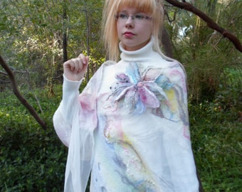 Silk-Wool Shawl,Bridal Silk Scarf,Luxe,Textured,White,Coral,Cream,Pink,Light Blue,Green,Very Gentle,Light,Reach,Bridal Accessory