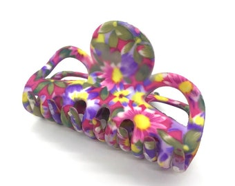 36 pcs Purple Star Printed Hair clip cover size 55 mm