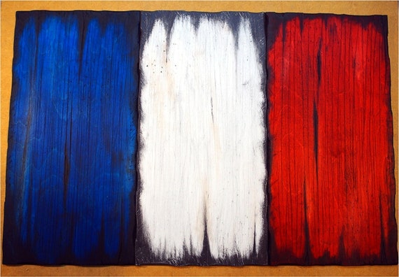 Wooden French Flag decor sign | French Flag Wall Art | Rustic decor | Consists of three individual wooden boards