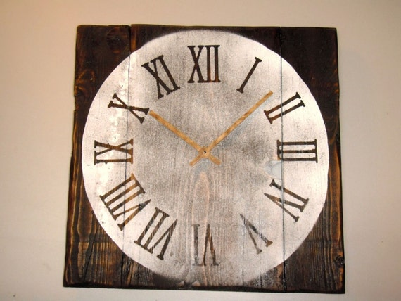Vintage HandMade Wooden Rustic Wall Clock