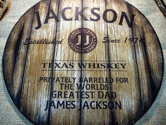 Personalized decor sign inspired by old whiskey barrel tops | Custom Gifts for men | Personalized Gift | Unique Family gift, Husband, Dad