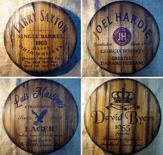 Personalized Gifts for Dad, Wall Decor Sign Inspired by Old Whiskey and Beer Barrels, Handmade Artwork, Gifts for Men,Home Bar Rustic Decor