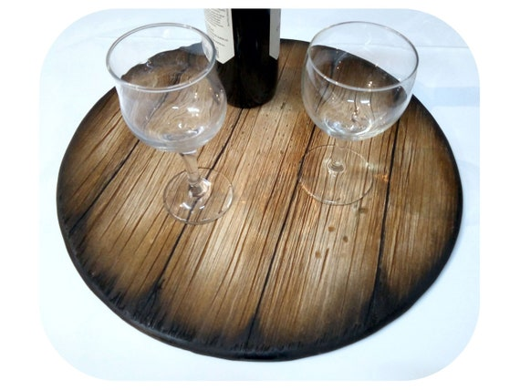 Serving Tray Inspired by Old Whiskey & Wine Barrels, Handmade Distressed Wood