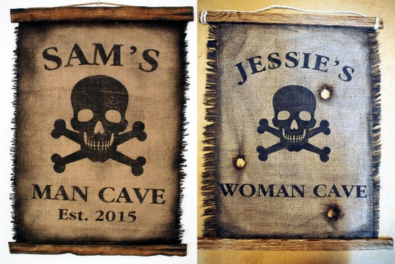 Customized Flag wall decor made of burlap and wood| Rustic Decor| Pirate flag Wall art| Personalized Gift| Man Cave, Home Bar, Boys Room