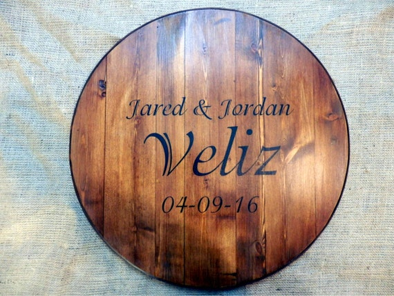 Personalized Lazy Susan, Wedding Guest Book | Wall Art | Lazy Susan | Serving Tray | Table Top | Wedding Gift
