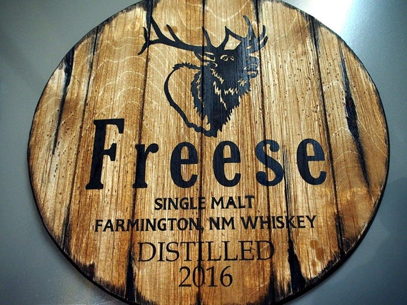 Custom sign inspired by old whiskey barrels | Personalized Gift | Gifts for men, Dad, Family, Husband, Dad | Rustic Man Cave Bar decor