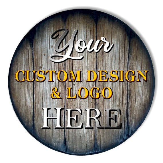Create Your Own Table Top, Size 24/30/32/36/40 inches, Personalized Handmade Artwork on Rustic Wood, Inspired by Whiskey Beer & Wine Barrels