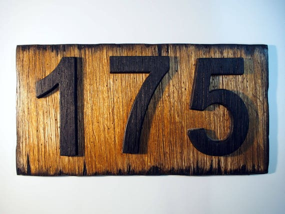 Custom Address Plaque | Rustic House Address Signs | Made of distressed Wood | Personalized house numbers, address sign, housewarming gift