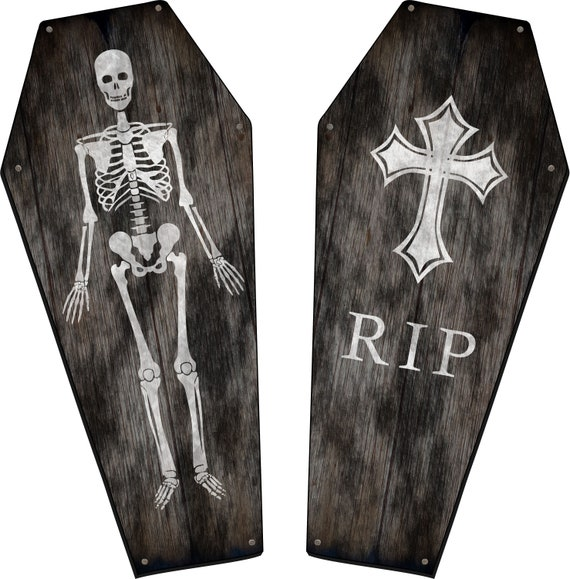 Personalized Coffin Shaped Table Top, Size 24 to 42 Inch, Rustic Wood Customized with Your Wording & Symbols, Halloween Decorations
