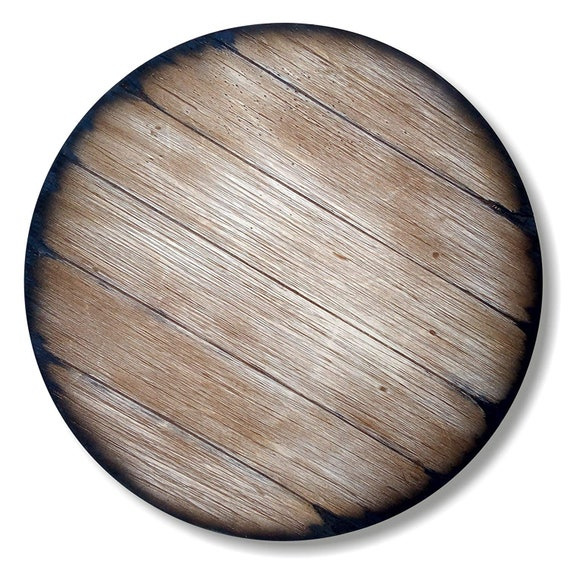 Round Table Top Inspired by Old Wine, Whiskey & Beer Barrels, Size 24/30/36/40/46 Inch, Living Room Bar Kitchen Patio Wood Furniture