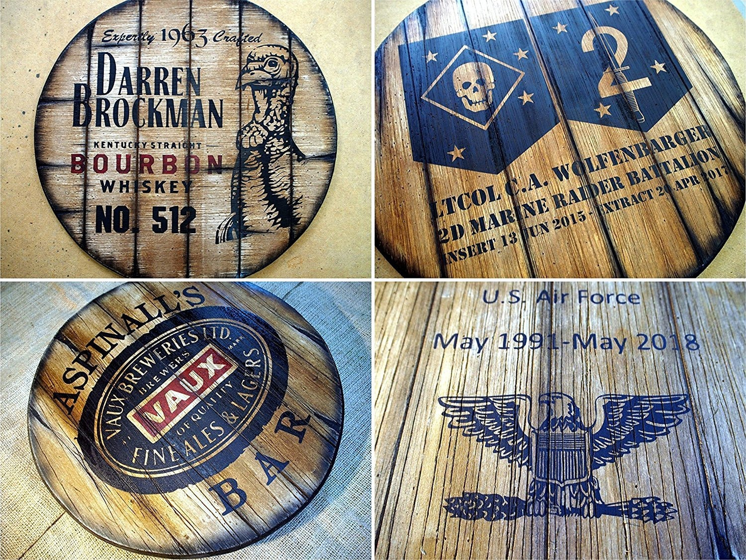 Personalized Rustic Decor Sign Inspired By Old Whiskey Barrel Tops