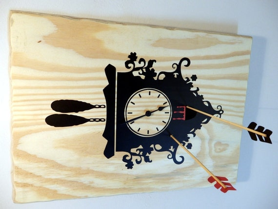 Cuckoo Murder Case wall clock | Wooden wall clock of a unique concept | Handmade wood clock | Halloween clock