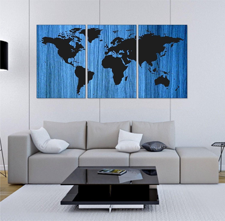 World Map Wall Art Map Handmade Wall Painting On Wood Wall