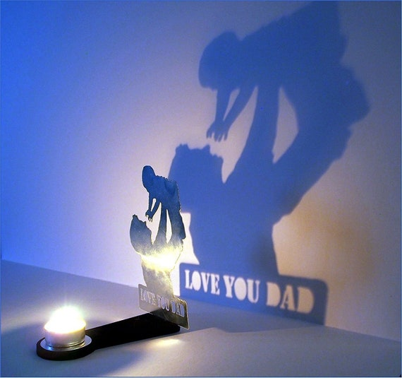 Father and Child sculpture Decorative Candle Holder | Personalized gift for Dad | Home Decor Dad and Kid Metal Sculpture Candle Stand