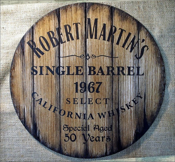 Custom rustic barrel head sign inspired by old whiskey barrels | Personalized Gift | Gifts for men, Dad, Family, Husband