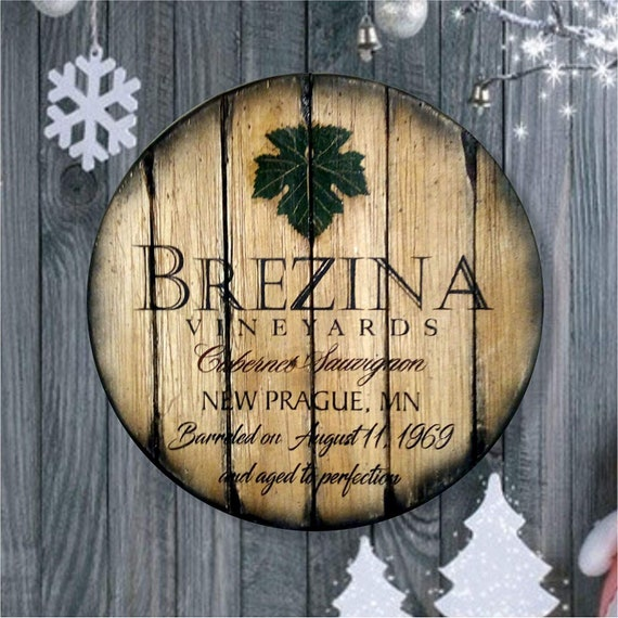 Christmas Gifts for Men, for Dad, Personalized Gift Inspired by Rustic Wine Barrels, Custom Handmade Wall Art