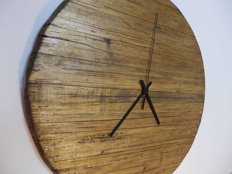 Horloge Vintage fait main noyer murale rustique en bois