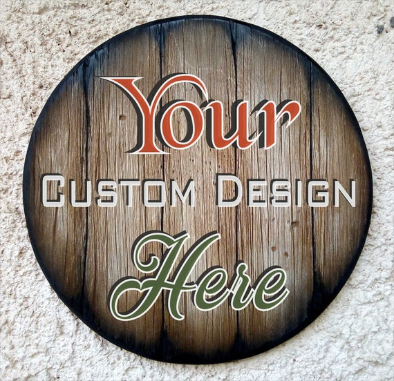 Create Your Own Rustic Bar Sign Inspired by Old Whiskey Barrels | Personalized Wood Wall Art | Home & Kitchen Decor | Your Custom Design