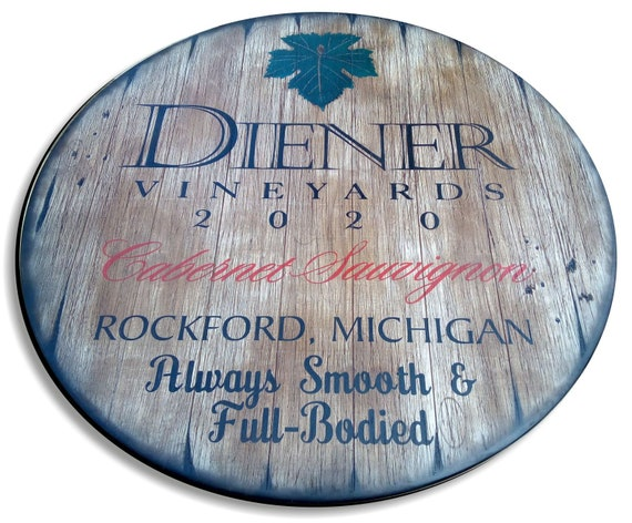 Personalized Table Top Inspired by Old Wine Barrels, Living Room Home Bar Man Cave Wood Furniture, Custom Gifts, Size 24/30/36/40 Inch