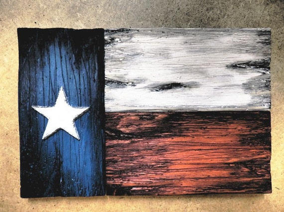 Texas Flag wall art | One of a kind wooden vintage home decor |  Weathered Wood
