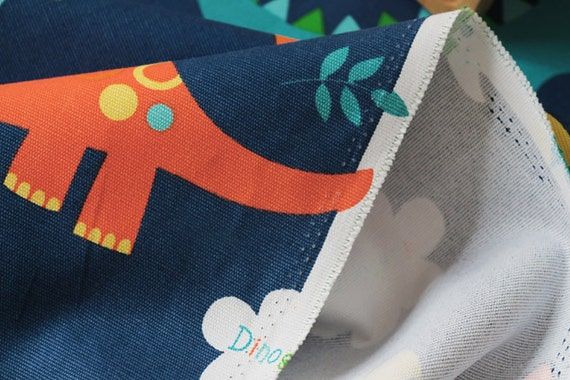 Dinosaurs Trees Kids Cotton Curtain Fabric Upholstery Quilting Cushions Crafts