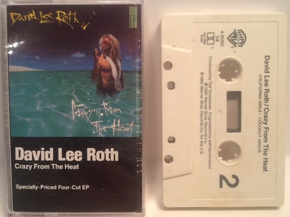 David Lee Roth Cassette Crazy From The Heat 1985 Four Cut Ep Etsy