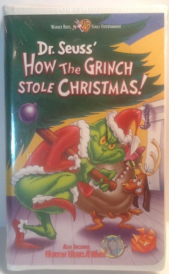 How The Grinch Stole Christmas 2000 Vhs.Factory Sealed How The Grinch Stole Christmas Vhs Dr Seuss Horton Hears A Who Warner Brothers Boris Karloff