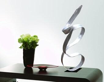 "Modern Abstract Metal Art Decor Freestanding Indoor Outdoor Table Sculpture - ""Spirit"" by Dustin Miller"