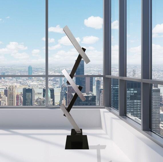ultra moderne abstrait int rieur ext rieur sculpture en m tal. Black Bedroom Furniture Sets. Home Design Ideas