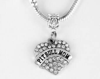 Pit Bull Mom Necklace Pitbull Necklace Dog Canine Pit bull Mom jewelry Pitbull lovers gift  Terrier European Style