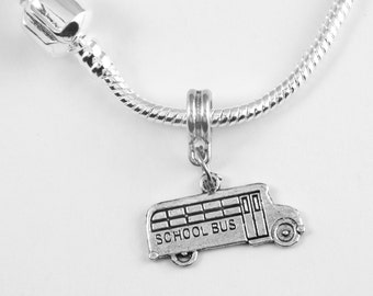 School Bus Charm Necklace  School bus Necklace School bus driver Necklace Bus Necklace  jewelry School Best Jewelry Gift