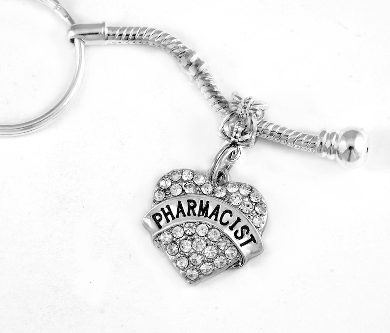 Pharmacist keychain Pharmacist key chain  Pharmacist charm image 0