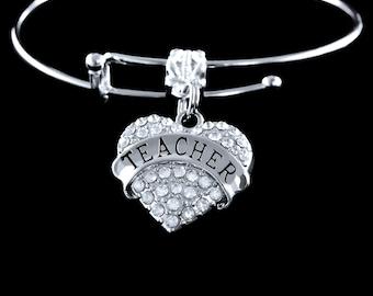 teacher bracelet Teacher bangle Teacher charm bracelet Gift for teacher Teacher jewelry teacher present best teacher
