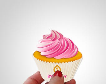 Cupcake business card etsy business cards cupcake bakery card template cheaphphosting Images