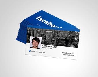 Business Cards (FACEBOOK_CARD_01 Template)