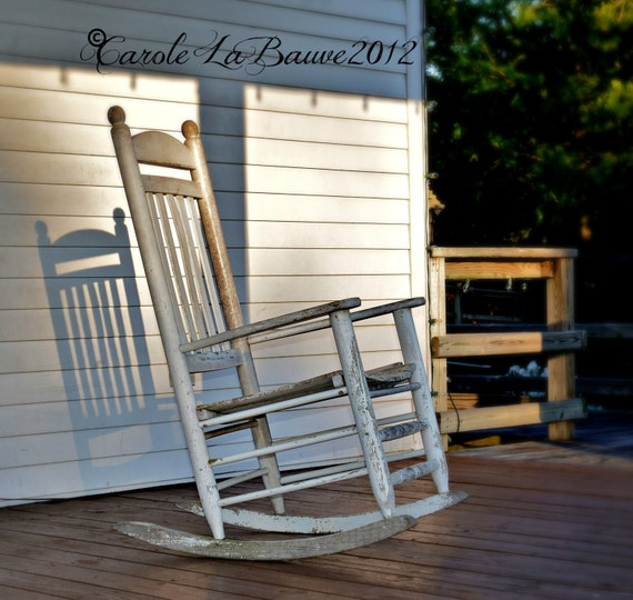 Enjoyable Rocking Chair In The Shadows Southern Photography Porch Rocker Louisiana At Large Series Creole Cajun Decor White Rocking Chair Gmtry Best Dining Table And Chair Ideas Images Gmtryco
