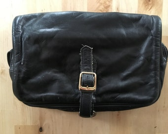 Vintage Black Leather Bag