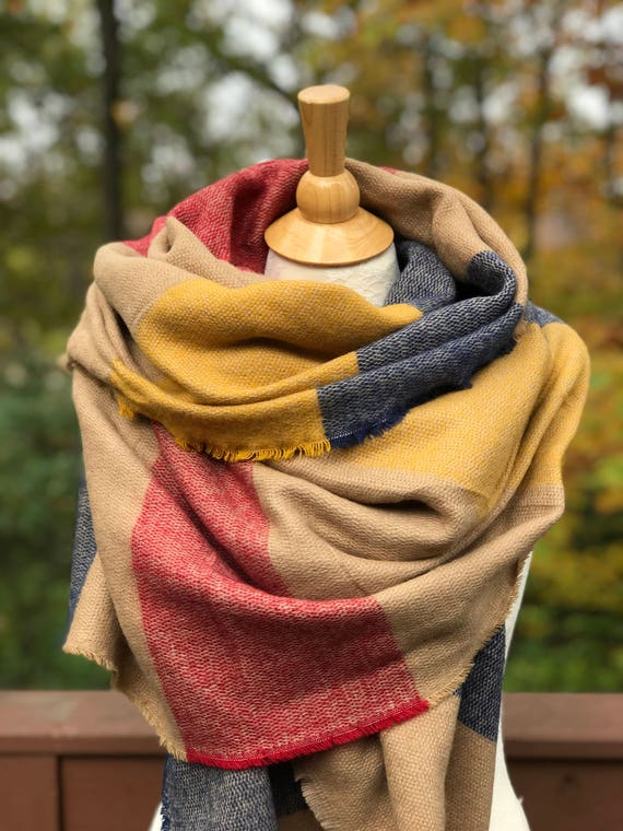 Blanket scarf Zara inspired