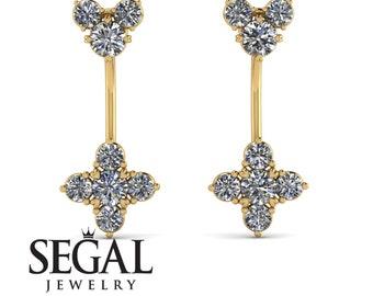 Hanging Earrings Diamond 18K Gold 14K  - Brittany
