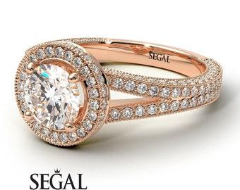Art deco engagement rings milgrain round art deco diamonds halo engagement ring for her