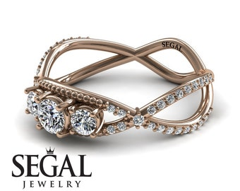 3 stone Engagement Ring Twig Engagement Ring Twig Ring Victorian Twing Ring 3 stone Engagement Ring - Natalie