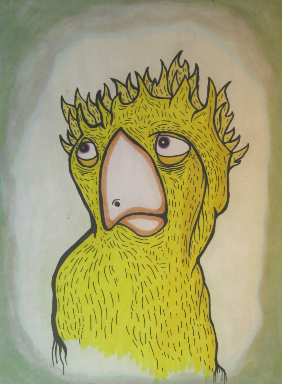 geek art bird art bird print funny print canary weird | Etsy