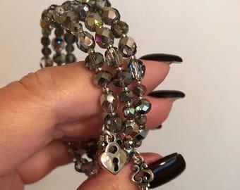 Czech Glass Bracelet: Marea Beads Memory Wire