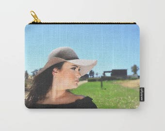 YOUR PHOTO Carry All Pouch, Custom photo Pouch, Personalized  Zipper Bag, Make-up Bag, Personalised clutch, Custom cosmetic purse