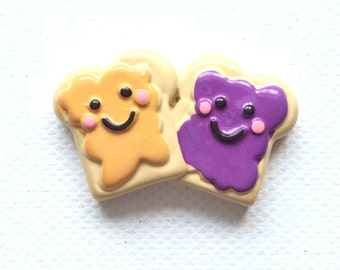 Peanut Butter and Jelly Pin, Tie Tack, Best Friend Pin, BFF, PB & J Pin, Hat Pin