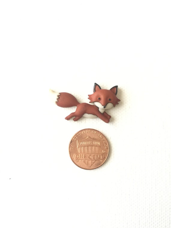 13781255ee682 Jumping Fox Pin Red Fox Woodland ForestLapel Pin | Etsy
