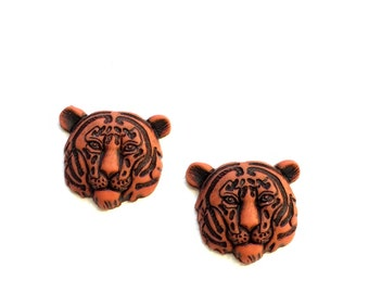 Tiger Earrings, Tiger Stud Earrings, Tiger Jewelry, Kawaii Earrings, Novelty Earrings, Bengal