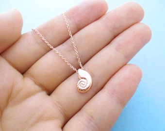Christmas New year Seashell Sister Gift Necklace Mermaid Birthday Necklace Ariel voice Jewelry Shell Friendship Mom Gold