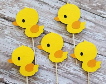 Rubber Ducky Cupcake Toppers.... Baby Shower... Birthday Party... Party Decor...