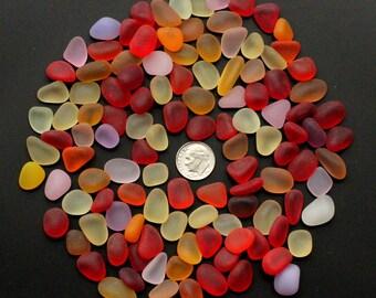 12 oz. Mixed Red Tumbled Sea Glass